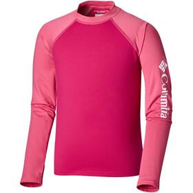 Columbia Sandy Shores T-shirt à manches longues anti UV Enfant, haute pink/wild geranium/nocturnal